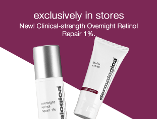 Exclusively in stores: Clinical-strength Overnight Retinol Repair 1%.
