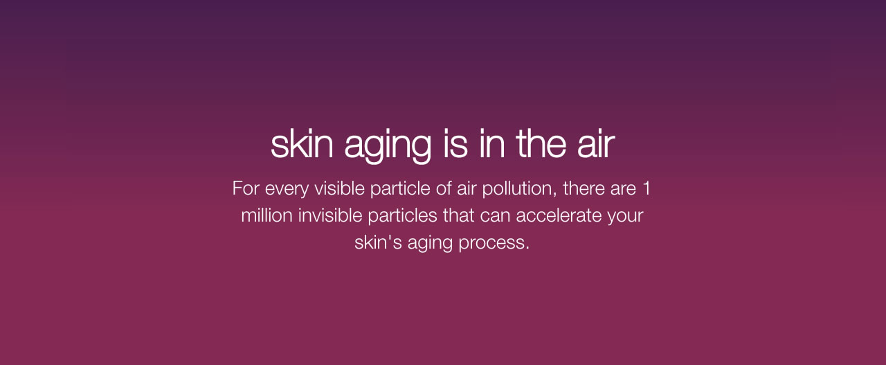 skin aging is in the air